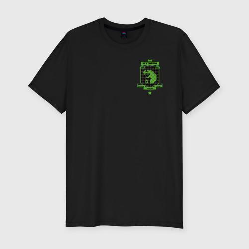 Мужская футболка премиум с принтом Slytherin Quidditch, вид спереди #2