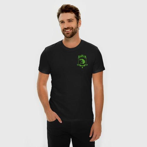 Мужская футболка премиум с принтом Slytherin Quidditch, фото на моделе #1