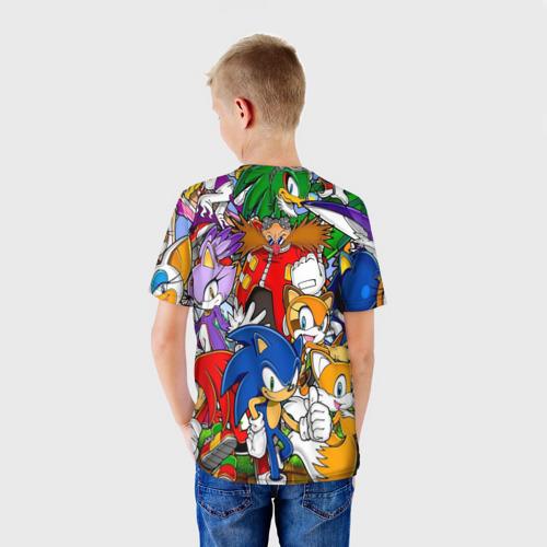 Детская 3D футболка с принтом Sonic, вид сзади #2