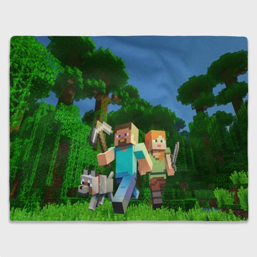 Плед 3D с принтом Minecraft, вид спереди #2