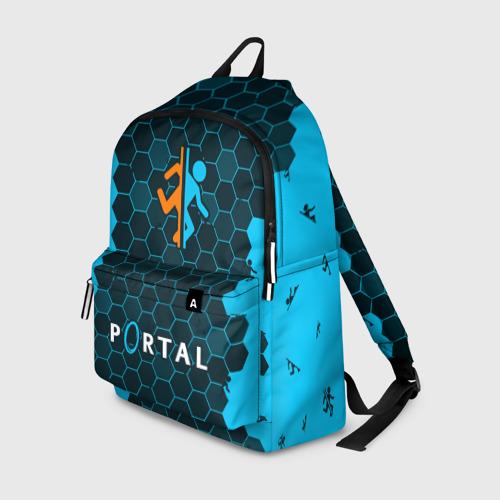 Рюкзак 3D с принтом PORTAL / ПОРТАЛ, вид спереди #2