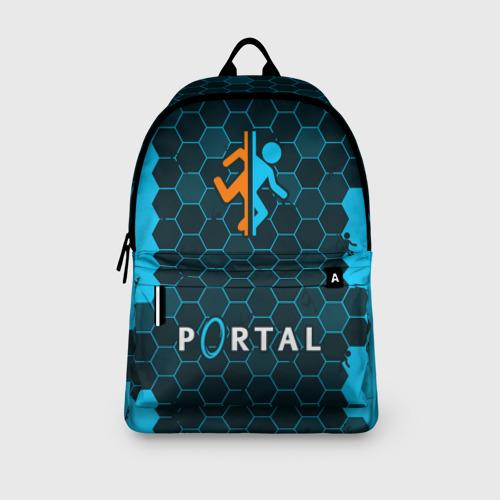 Рюкзак 3D с принтом PORTAL / ПОРТАЛ, вид сбоку #3