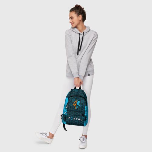 Рюкзак 3D с принтом PORTAL / ПОРТАЛ, фото #6