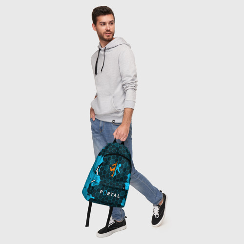Рюкзак 3D с принтом PORTAL / ПОРТАЛ, фото #5