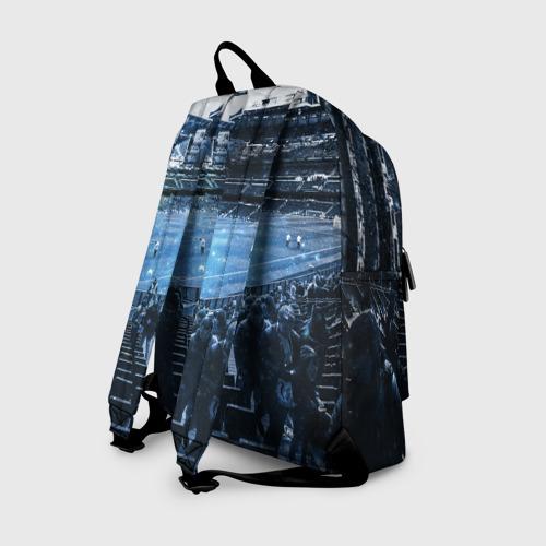 Рюкзак 3D с принтом MANCHESTER CITY, вид сзади #1