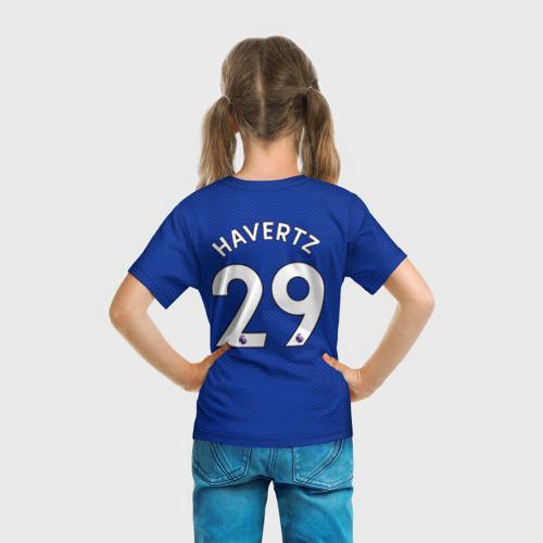 Детская 3D футболка с принтом Челси форма Хаверц 20-21, вид сзади #2