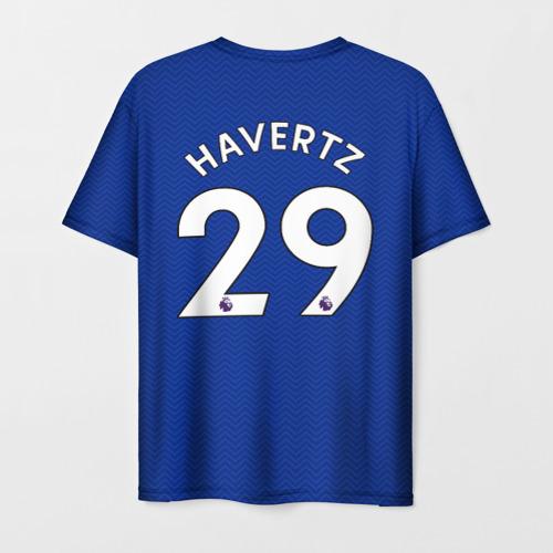 Мужская 3D футболка с принтом Челси форма Хаверц 20-21, вид сзади #1