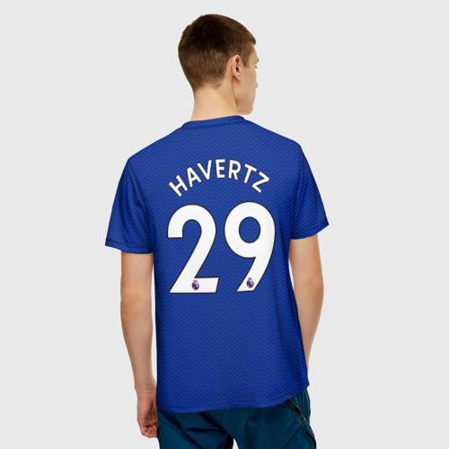 Мужская 3D футболка с принтом Челси форма Хаверц 20-21, вид сзади #2