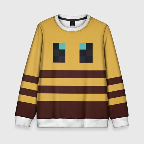 Детский 3D свитшот с принтом Minecraft Bee, вид спереди #2