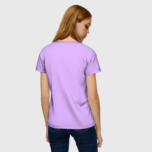 Женская 3D футболка с принтом Гимнастика, вид сзади #2