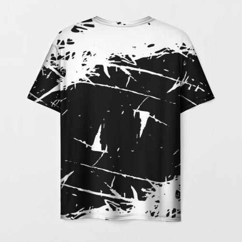 Мужская 3D футболка с принтом Черный клевер, вид сзади #1