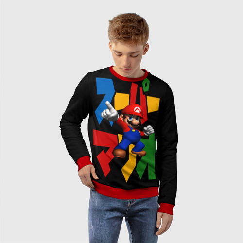 Детский 3D свитшот с принтом Mario, фото на моделе #1