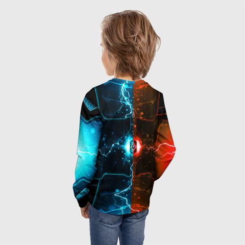 Детский лонгслив 3D с принтом Roblox | Роблокс, вид сзади #2
