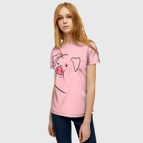 Женская 3D футболка с принтом Пухля, фото на моделе #1