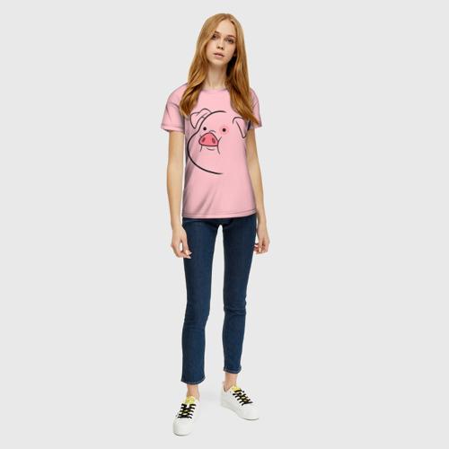 Женская 3D футболка с принтом Пухля, вид сбоку #3