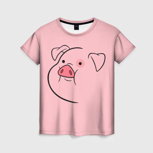 Женская 3D футболка с принтом Пухля, вид спереди #2