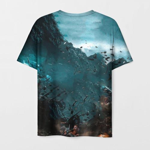 Мужская 3D футболка с принтом Valhalla, вид сзади #1