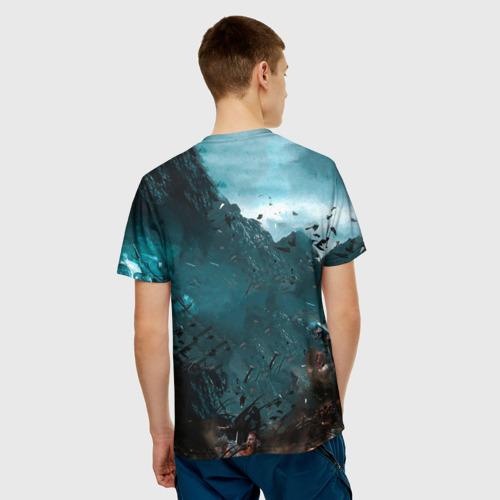 Мужская 3D футболка с принтом Valhalla, вид сзади #2