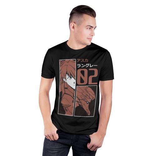 Мужская футболка 3D спортивная с принтом Аска Лэнгли 02, фото на моделе #1