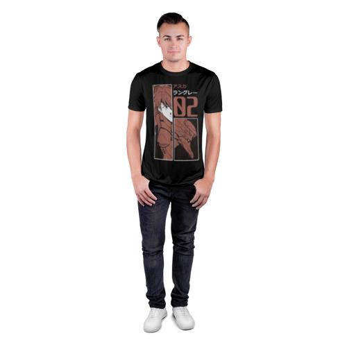 Мужская футболка 3D спортивная с принтом Аска Лэнгли 02, вид сбоку #3