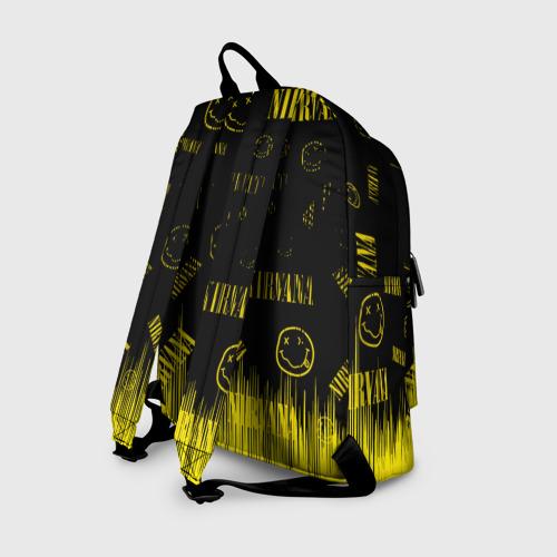 Рюкзак 3D с принтом Nirvana, вид сзади #1