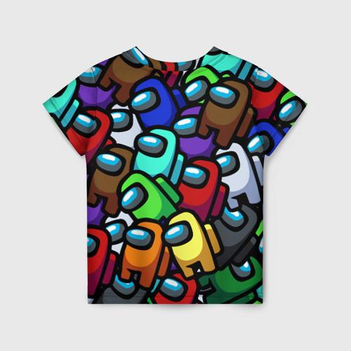 Детская 3D футболка с принтом Among us, вид сзади #1