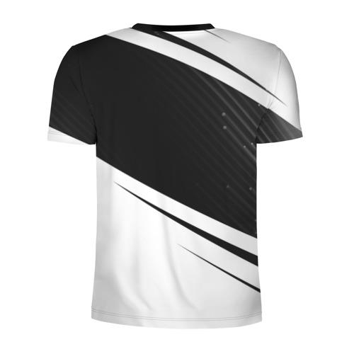 Мужская футболка 3D спортивная с принтом VOLVO / Вольво, вид сзади #1