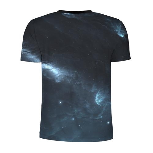 Мужская футболка 3D спортивная с принтом Млечный путь, вид сзади #1