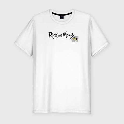 Мужская футболка премиум Рик и Морти Хэллоуин