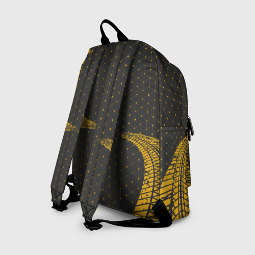 Рюкзак 3D с принтом LAMBORGHINI / Ламборгини, вид сзади #1