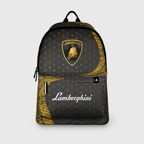 Рюкзак 3D с принтом LAMBORGHINI / Ламборгини, вид сбоку #3