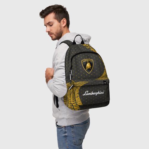 Рюкзак 3D с принтом LAMBORGHINI / Ламборгини, фото на моделе #1