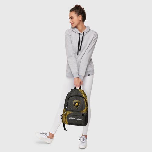 Рюкзак 3D с принтом LAMBORGHINI / Ламборгини, фото #6