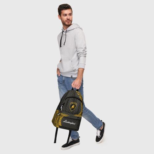 Рюкзак 3D с принтом LAMBORGHINI / Ламборгини, фото #5