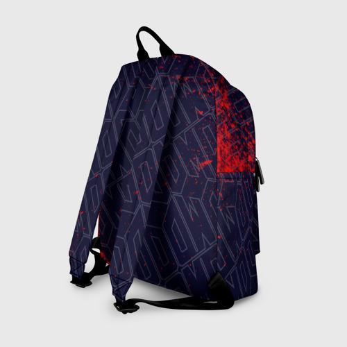 Рюкзак 3D с принтом DOOM / ДУМ, вид сзади #1