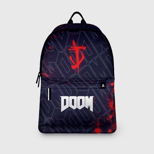 Рюкзак 3D с принтом DOOM / ДУМ, вид сбоку #3