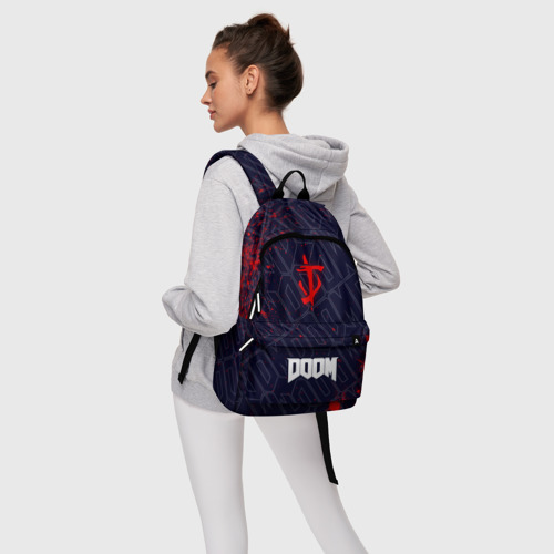 Рюкзак 3D с принтом DOOM / ДУМ, фото #4