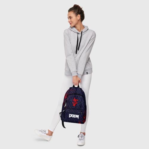 Рюкзак 3D с принтом DOOM / ДУМ, фото #6