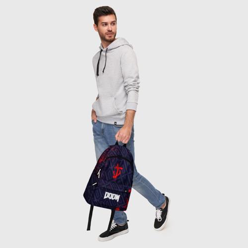 Рюкзак 3D с принтом DOOM / ДУМ, фото #5