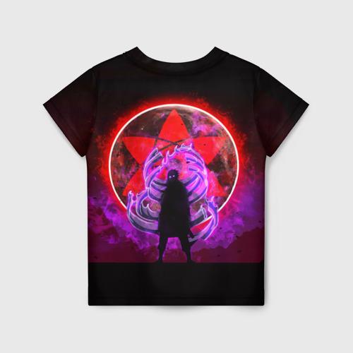Детская 3D футболка с принтом САСКЕ, вид сзади #1