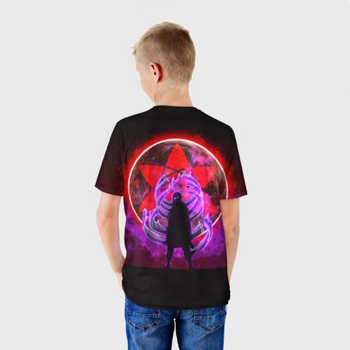 Детская 3D футболка с принтом САСКЕ, вид сзади #2