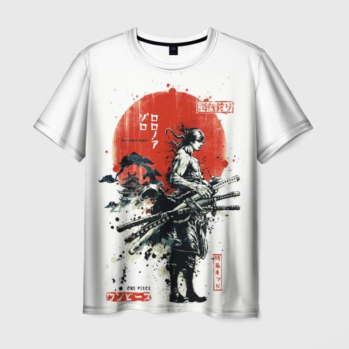 Мужская 3D футболка ONE PIECE ZOHO SAMURAI