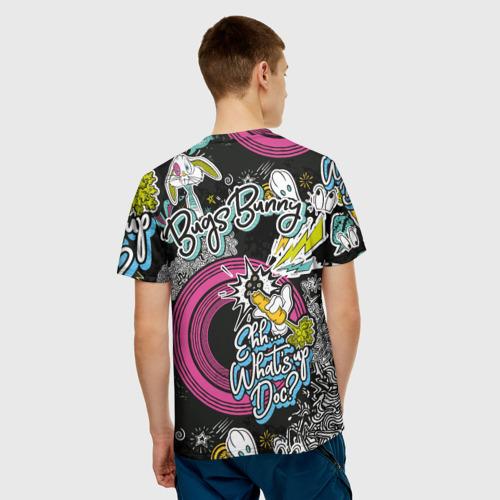 Мужская 3D футболка с принтом Багз Банни, вид сзади #2