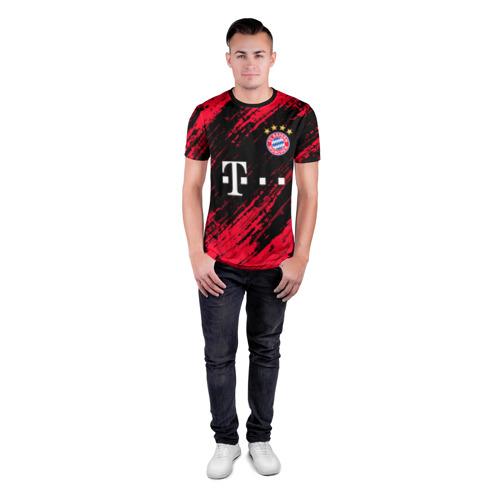 Мужская футболка 3D спортивная с принтом BAYERN MUNCHEN \ БАВАРИЯ, вид сбоку #3