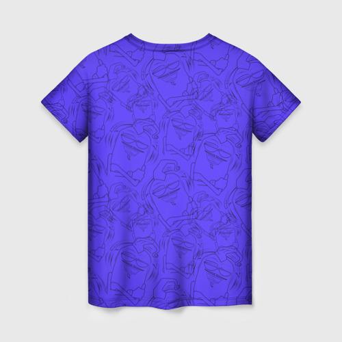 Женская 3D футболка с принтом Эдисон и Катя, вид сзади #1