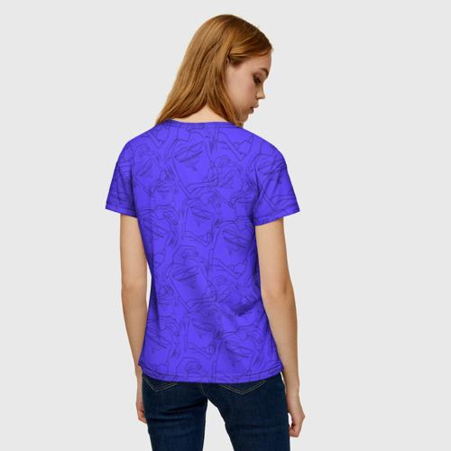 Женская 3D футболка с принтом Эдисон и Катя, вид сзади #2