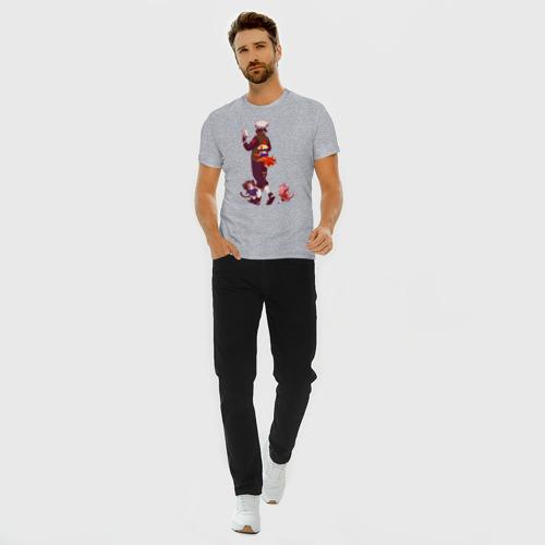 Мужская футболка премиум с принтом Какаши и дети наруто, саске, вид сбоку #3