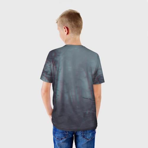 Детская 3D футболка с принтом Сиреноголовый, вид сзади #2