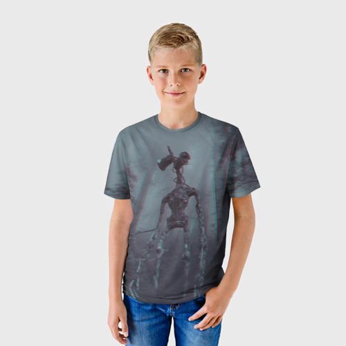 Детская 3D футболка с принтом Сиреноголовый, фото на моделе #1
