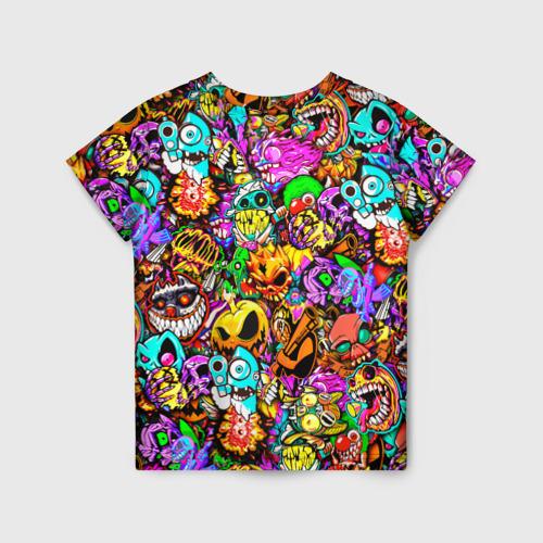 Детская 3D футболка с принтом STANDOFF 2 STICKERS, вид сзади #1